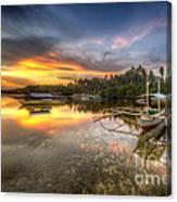 Panglao Port Sunset Canvas Print