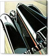 Panhard Car Advertisement Canvas Print