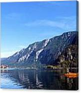 Pano Of A Man With His Fuhr Boat Canvas Print