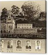 Panorama Alcatraz Infamous Inmates Sepia Canvas Print