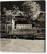 Panorama Alcatraz Up Close Canvas Print