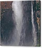 Panorama Angel Falls In Canaima National Park Venezuela Canvas Print