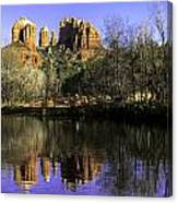 Panorama At Red Rocks Crossing In Sedona Az Canvas Print