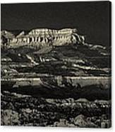 Panorama Bryce Canyon Storm In Black And White Canvas Print