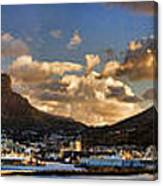 Panorama Cape Town Harbour At Sunset Canvas Print
