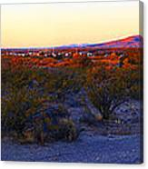 Panorama Morning View Of Mountains Canvas Print