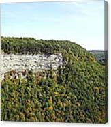 Panorama Of Cliff At Letchworth State Park Canvas Print