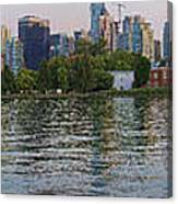 Panorama Of Coal Harbour And Vancouver Skyline At Dusk Canvas Print