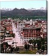 Panorama Of Denver Canvas Print