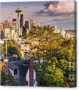 Panorama Of Downtown Seattle And Space Needle From Kerry Park - Seattle Washington State Canvas Print