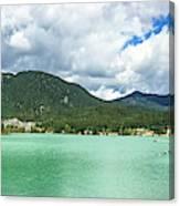 Panorama Of Green Lake, Whistler Canvas Print
