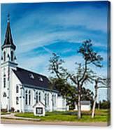 Panorama Of Sts. Cyril And Methodius Catholic Church - Dubina Texas Canvas Print