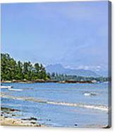 Panorama Of Pacific Coast On Vancouver Island Canvas Print