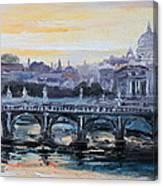 Panorama Of Rome Canvas Print