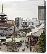 Panorama Of The Senso Ji Temple In Tokyo Canvas Print