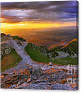 Panorama Of The Tatras In Poland Canvas Print