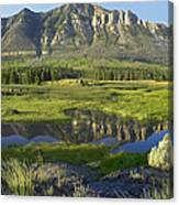 Panorama Of Windy Mountain Wyoming Canvas Print