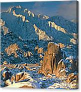 Panorama Snow Covers The Alabama Hills Canvas Print