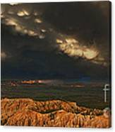 Panorama Storm Clouds Over Bryce Canyon National Park Utah Canvas Print