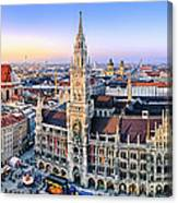 Panorama View Of Munich City Center Canvas Print