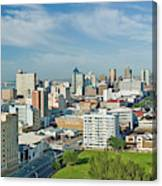 Panoramic Aerial View Of Durban, South Canvas Print