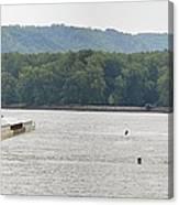 Panoramic Barge Canvas Print