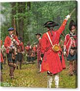 Panoramic Battle Of Bushy Run Canvas Print