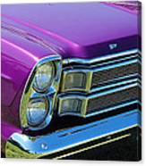 panoramic Ford Galaxie Canvas Print
