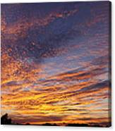 Panoramic Hill Country Sunset Canvas Print