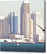 Panoramic Image Of San Diego From The Harbor Canvas Print