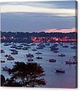 Panoramic Of The Marblehead Illumination Canvas Print