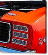 panoramic orange Z28 Camaro Canvas Print
