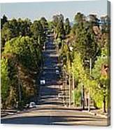 Panoramic Photo Of Katoomba Street Canvas Print