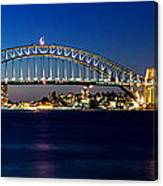 Panoramic Photo Of Sydney Night Scenery Canvas Print