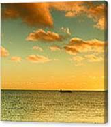 Panoramic Photo Sunrise At Monky Mia Canvas Print
