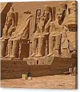 Panoramic Photograph Of Famous Egyptian Monument Canvas Print