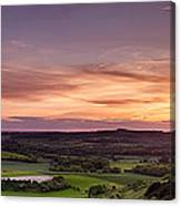Panoramic Sunset Over England Canvas Print
