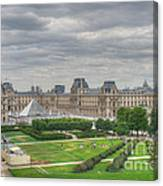 Panoramic View Musee Du Louvre Canvas Print