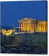 Panoramic View Of Acropolis Of Athens Canvas Print