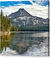 Panoramic View Of Anthony Lake Canvas Print