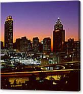 Panoramic View Of Atlanta Skyline Canvas Print