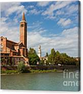 Panoramic View Of Dominican Church Of Sant'anastasia In Verona Canvas Print