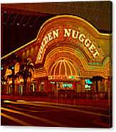 Panoramic View Of Golden Nugget Casino Canvas Print