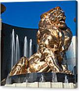 Panoramic View Of Mgm Lion And Mgm Canvas Print
