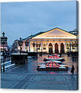 Panoramic View Of Moscow Manege Square And And Central Exhibition Hall - Featured 3 Canvas Print