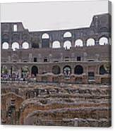 Panoramic View Of The Colosseum Canvas Print