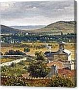 Panoramic View Of The Ile-de-france Canvas Print