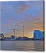 Panoramic View Of The Shard, City Hall Canvas Print