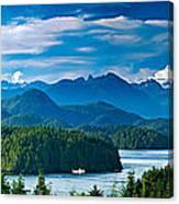 Panoramic View Of Tofino Vancouver Island Canada Canvas Print