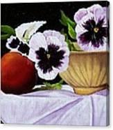 Pansies In Bowl Canvas Print